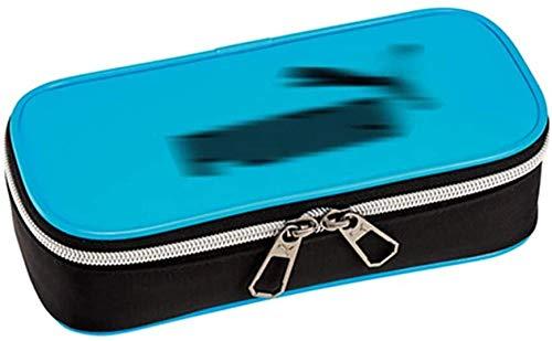 Leather Pencil Case Bag Durable High Capacity Stationery Pen Pouch Makeup Bag Vintage Back to School Alphabet ABC