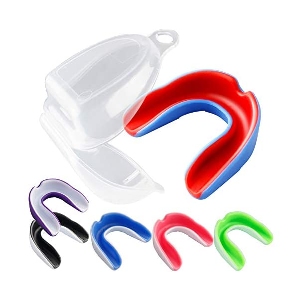 Vanmor 6 Pack Youth Mouth Guard Sports Mouthguard for Kids Double Colored Teeth Protector...
