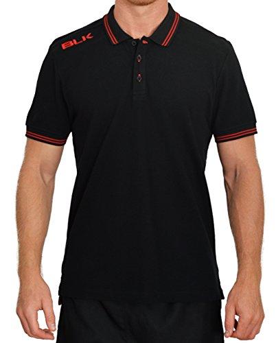 BLK 420250001 Polo Homme, Noir/Rouge, FR : L (Taille Fabricant : L)