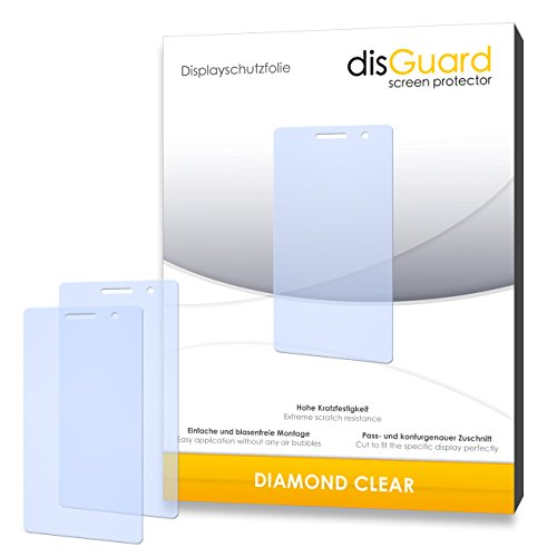 disGuard 2 x Bildschirmschutzfolie Oppo R3 Schutzfolie Folie DiamondClear unsichtbar