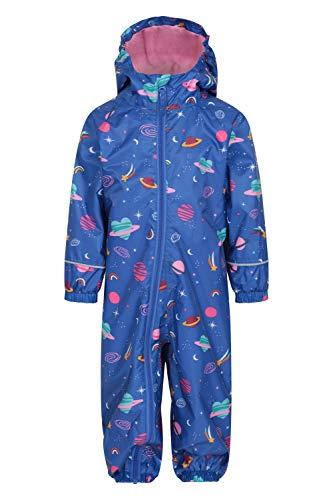 Mountain Warehouse Spright Bedruckter Regenanzug - Atmungsaktiv, Gefüttert, Wasserfest, versiegelte Nähte Anzug, Fleecefutter - Für Jungen und Mädchen, Frühling Violett 12-18 Monate