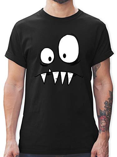 Karneval & Fasching - Monster Kostüm - 3XL - Schwarz - Tshirt Spruch Herren - L190 - Tshirt Herren und Männer T-Shirts