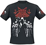 Photo de Dark Funeral Shadow Monks Homme T-Shirt Manches Courtes Noir L, 100% Coton, Regular/Coupe Standard