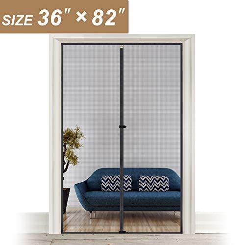 Türnetz 38 x 83, Netz-Türschutz mit Magneten, Terrassenschutz, passend für Türen bis zu 91,4 x 203,8 cm (B x H), hält Fliegen Mücken fern