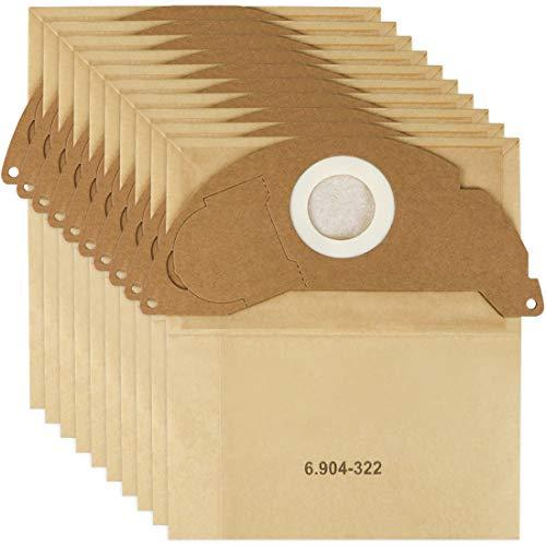Lot de 10 sacs d'aspirateur pour Karcher 6.904-322.0