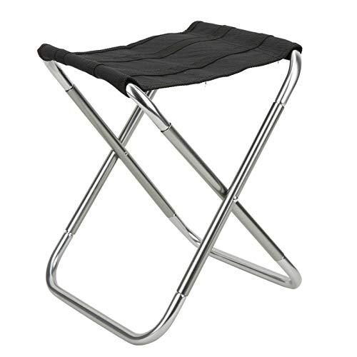 Alinory Klappbarer Angelstuhl, 600D Oxford Polyester Hocker Klappbarer Hocker, stabil für Camping im Freien