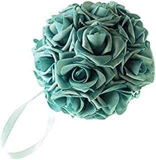Homeford Firefly Imports Soft Touch Foam Kissing Ball Wedding Centerpiece, 6-Inch, Aqua, 6