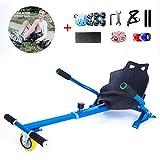 FLy Silla De Scooter Self Balance Go Kart Asiento Ajustable para 6,5 8 10 Pulgadas Hoverboard Accesorios Smart Electric Scooter Unisex Adulto + Un Conjunto De Equipo De Protección,Azul