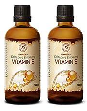 Vitamine E Olie 2x100 ml - 100% Natuurlijk en Puur - Rijk Aan Vitamine E - Tocoferol - Vitamine E Olie 200ml - Anti-Aging Olie Tegen Allerlei Rimpels - Gezichtsverzorging - Lichaamsverzorging - Haar