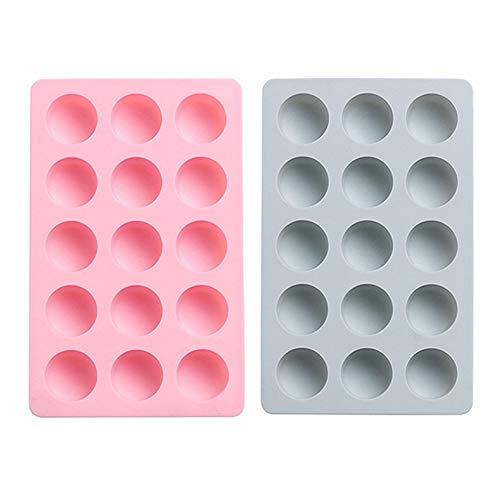 yinbaoer Moldes Y Bandejas para Hielo 2 Piezas De Molde De Cubitos De Hielo Cubiteras para Hielo Silicona para Uso Familiar Fiestas Y Bares Round,2PCS