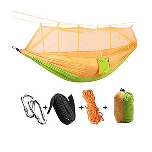 YSCYLY Lichtgewicht Kampeerhangmat, 260 x 140 cm met muskietennet, ideale hangmattent, voor kamperen, backpacken, kajakken en reizen