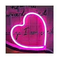 ロマンチック ネオンサイン、ツェッペリンクラウドデザインネオンライト、装飾ネオンサインはクリスマスパーティー休日の照明に適しています 寝室 (Ausstrahlen von Farbe : Small Heart Pink)