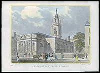 1831ロンドン - ST Lawrence King Streetのオリジナルアンティークプリントビュー(55)