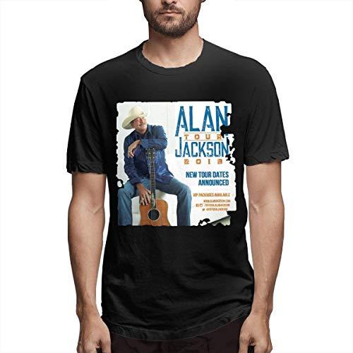Whgdeftysd Heren Alan Jackson Tour 2019 Casual T-shirt met korte mouwen