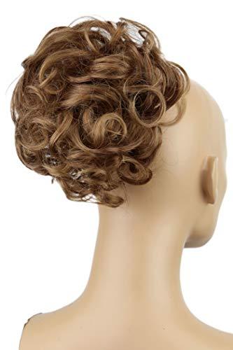 PRETTYSHOP Voluminöser DUTT Haarteil Haarknoten Haargummi Hepburn-Dutt Haarverdichtung Gewellt Braun Mix D17