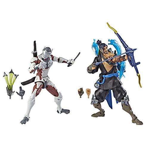 Overwatch Ultimates Series Hanzo und Genji Doppelpack 15 cm große Action-Figuren zum Sammeln mit Accessoires – Blizzard Videospiel Charaktere