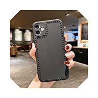 For iPhone 12 11 ProMaxミニケースシリコンフォトフレームFundasFor iPhone SE 2020 7 8 XR XS X 6 6sPlusソフトバックカバーバンパー用-Black5-For iPhone XS