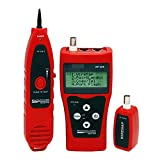 YAOSHI probador de Cable de Red Localizador de fallas de Alambre LAN Tester Tester Check Capering RJ45 RJ11 BNC Prueba de rastreador de Cable localizador de Cables subterráneo (Color : F-308-Red)