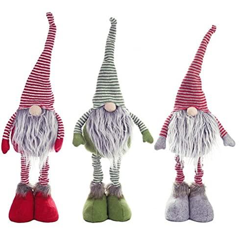Muñecas De Navidad Piernas Largas Suecia Santa Gnomo Peluche Ornamento Adornos De Vacaciones para Navidad Año Nuevo Regalo