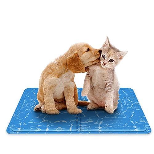 Nobleza – Alfombrilla refrescante para Mascotas Grandes. Auto refrigerante No tóxico. Ideal para para Perros, Gatos en Verano. 60 * 50 cm, Color Azul
