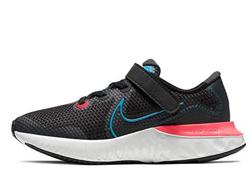 Nike Renew Run (PS), Zapatillas Unisex niños, Negro (Black/Light Lime-Smoke Grey 090), 28.5 EU