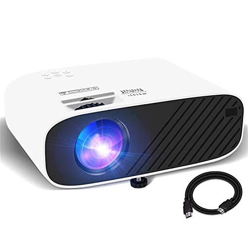 Beamer Full HD Projektor Mini Heimkino Beamer 1080P Unterstützt 4800 Lumen mit Hi-Fi Stereo 200