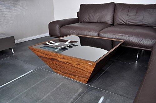 Carl Svensson Design Couchtisch Pyramide MV-3 verschiene Ausführungen erhältlich (Nussbaum-Walnuss mit Spiegelglas)