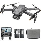 QIXIAOCYB GPS Drone con drones de motor sin escobillas con 4K HD Cámara dual for adultos plegables. FPV GPS Drones RC Quadcopter con GPS + Posicionamiento de flujo óptico con 2 baterías durante 50 min