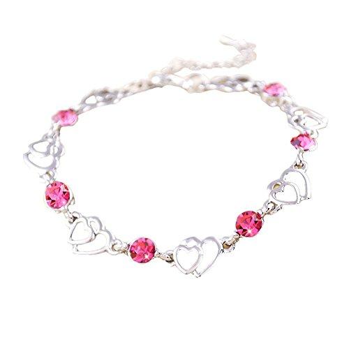 Bijoux à la main Améthyste Bracelet Bijoux Fashion en forme de coeur Bracelet