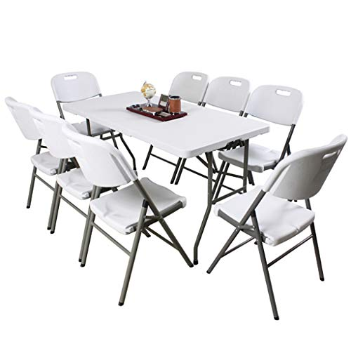 LZL Folding Camping Table Folding table outdoor portable dining table home simple long table and chairs stalls rectangular meeting dinner long table Folding table