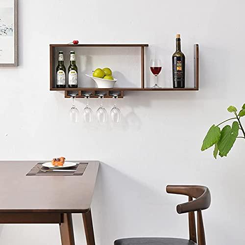 YIXINHUI Boîte de Rangement de Cuisine Porte-vins en Bois viticole Verre à vin Porte-Bouteille avec 8 Verres à vin Rouge Stockage pour Cuisine Salle à Manger Bar Maison & Cuisine...