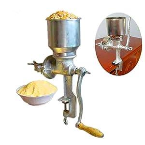 ZNXJJ Molino de harina de maíz máquina multifunción de casa Uso Manual Soja Maíz Arroz maní Granos de Cacao en Grano Molinillo de café