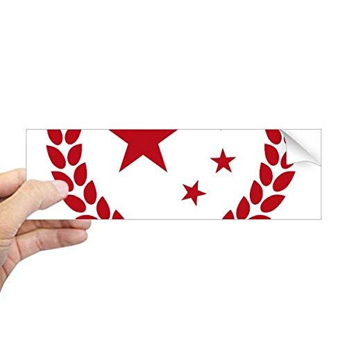 DIYthinker gemaakt in China sterren tarwe rijst rood rechthoek bumper Sticker Notebook Window Decal