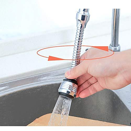 Manguera de extensión del grifo, dispositivo de extensión del cabezal de rociado del grifo universal filtro cocina 360 ° boquilla boquilla ahorro de agua hogar fregadero accesorios de cocina