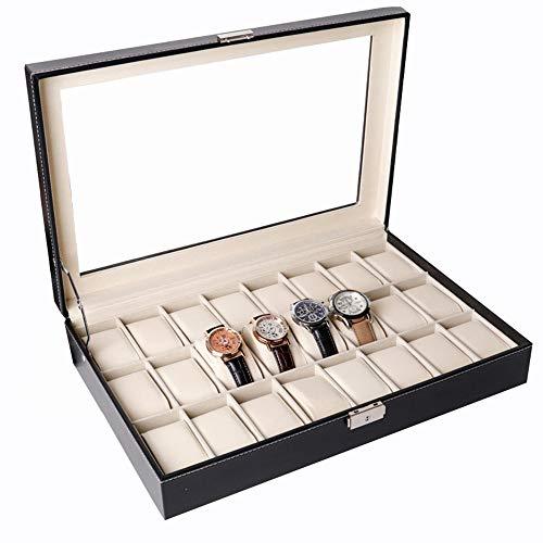 watch box Caja De Reloj De 24 bits, Caja De Almacenamiento De Gran Capacidad, Caja De Presentación De Reloj, Cerraduras De Hardware Seguras