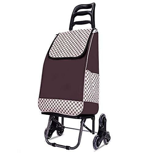 Carritos de compras multifunción, carritos de cocina de 50 kg de gran capacidad, carrito de compras plegable y liviano, carrito para subir escaleras con bolsa impermeable desmontable y ruedas Carritos