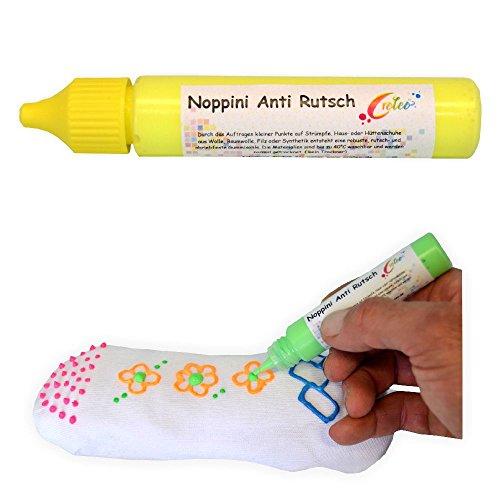 Creleo Noppini Anti Rutsch neon gelb 88 ml, Socken Stop