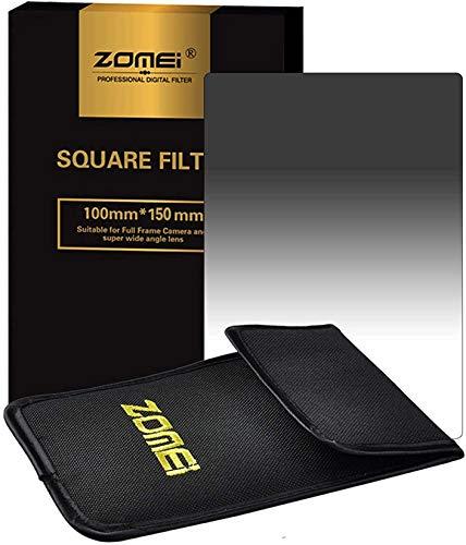 ZOMEi 100 x 150 mm Z-Pro Series ND8 graduata densità neutra graduale grigio quadrato filtro compatibile Cokin DSLR fotocamere