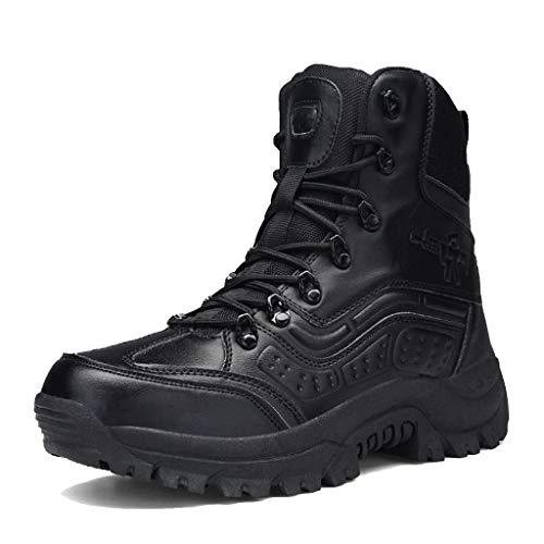 ZZMFC Army Tactische laarzen Camping Duurzame Suede/Leer met Zijrits Wandelschoenen Desert Antislip Leger Training Schoenen