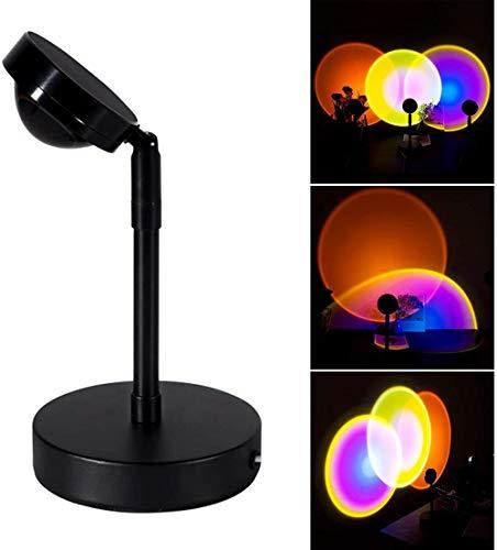 Sunset Projection LED Lámpara de pie - Luz de ambiente de ensueño, lámpara de pie led nórdica, luz de fotografía, lámpara de proyección colorida giratoria, luz de piso led moderna para bar