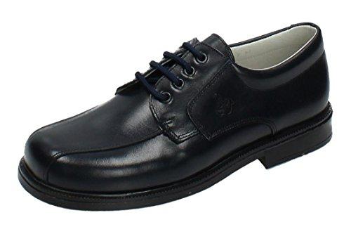 YOWAS 6894 Zapatos Piel Azul NIÑO Zapato COMUNIÓN Marino 35