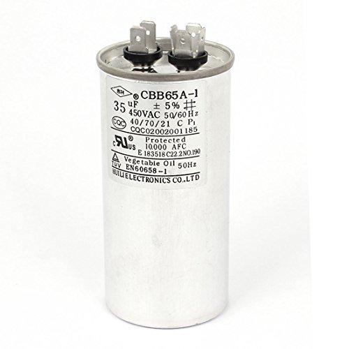 DealMux 5% Lavadora Aire Acondicionado cilíndrico Running Capacitor, CA 450V, 35uF