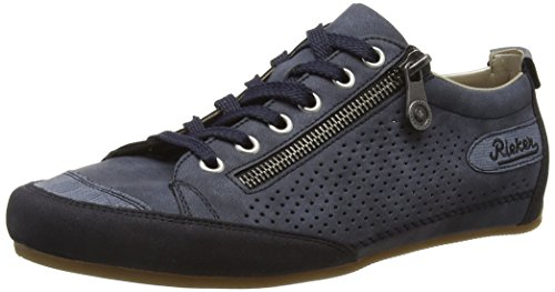 Rieker Damen 57725 Women Low-Top Sneakers, Blau (Navy/Denim/Atlantis / 14), 41 EU