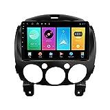 ADMLZQQ Android 10 Autoradio Coche Radio para Mazda 2 2007-2014 Multimedia Player Support FM WiFi/DSP/Carplay/Llamada Bluetooth/USB/SWC+ Cámara De Visión Trasera,M100s4core1+16