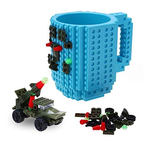Quy cup taza de café de bambú Taza de la taza de 350 ml para la leche de café de la taza de la taza del tipo de ladrillo de la taza de la taza del titular de la taza de los bloques del edificio eeqiu