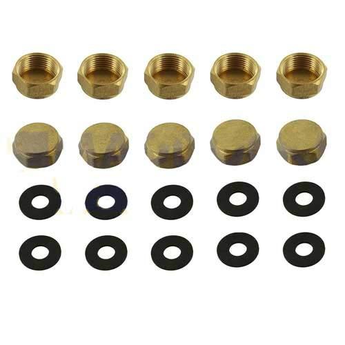 10 stuks universele wasmachine vaatwasserkraan blancheerdop & afdichtingsset 3/4 inch brons