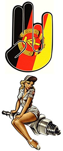 140 King Kerosin Set Pin Up´s Aufkleber/Sticker/Rockabilly/Motorrad/Retro/STP/DDR