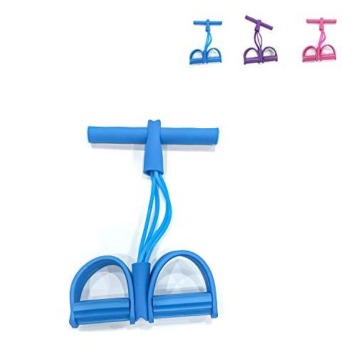 arteesol Bandas de resistencia para pedales de 4 tubos para yoga, bandas de ejercicio (azul cielo)