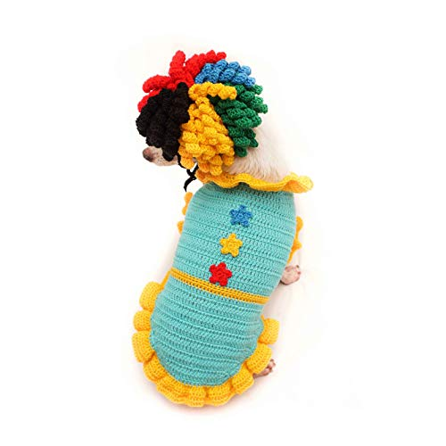Clown Costume - Dog Costume Funny Cat Clothes Dogs Cats Super Funny Hat Pet Clothes Best Gift for Halloween Christmas Birthday Cosplay Party 134F (Medium)