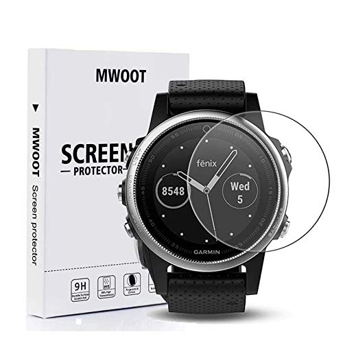 MWOOT 6 Stück Schutzfolie Kompatibel mit Garmin Fenix 5X/Garmin Fenix 5X Plus/Garmin Venu,Ultraklare Bildschirmschutzfolie, Vollflächig Schutz zum Smartwatch Bildschirm Zubehör Set